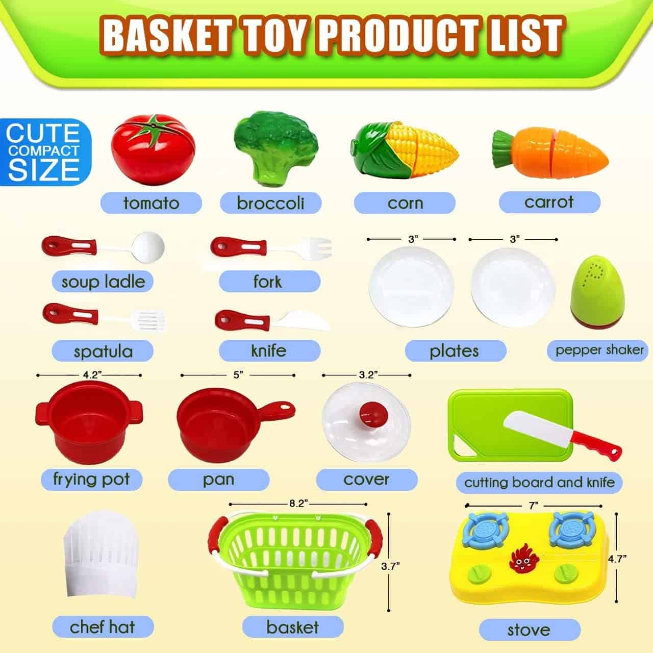 FUNERICA Cutting Play Fruit Toys Set