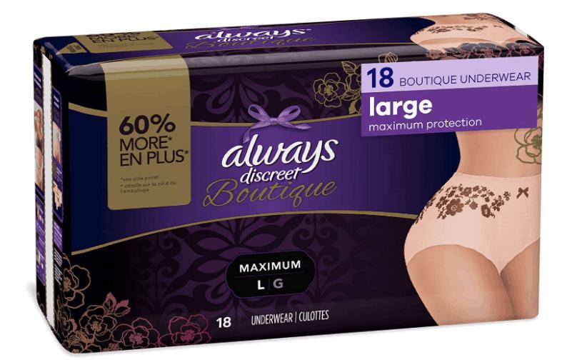 Always Discreet Boutique, Incontinence _ Postpartum Underwear for Women