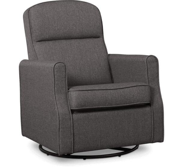 _Delta Furniture Blair Slim Glider Swivel Rocker Chair with Gliding Ottoman
