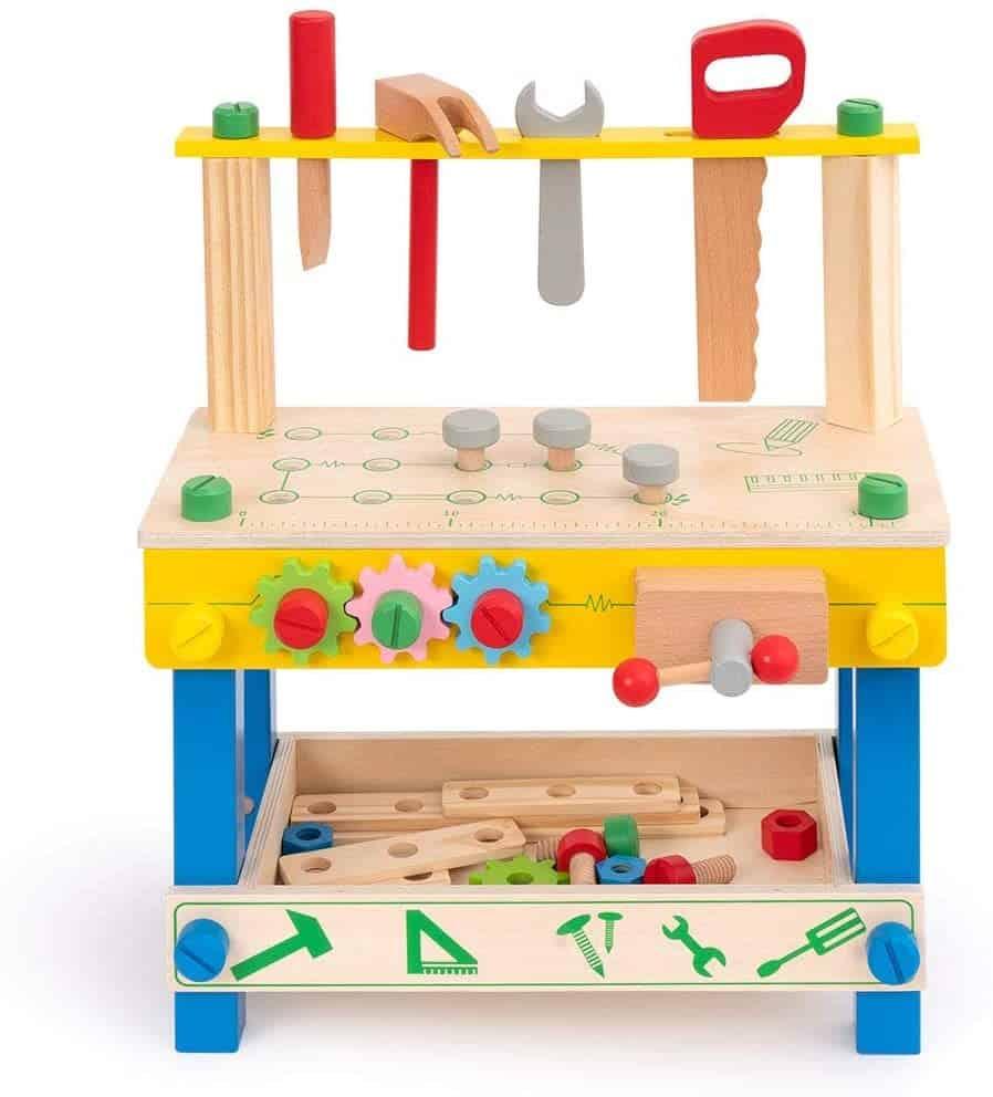F.A.O. Schwarz Solid Wood Toy Workbench