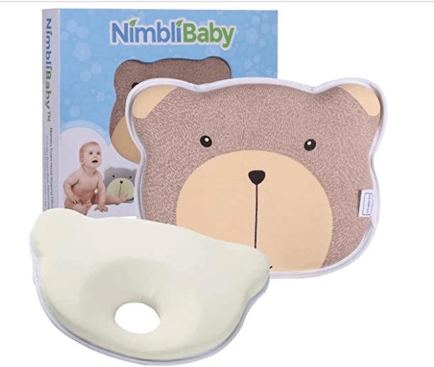 Nimbli-Baby-Head-Shaping-Pillow-Memory-Foam-Flat-Head-Baby-Pillow