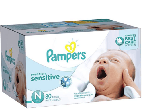 Pampers-NewBorn-size-1-Swaddlers-Sensitive-disposable-diapers-Super-economy-pack